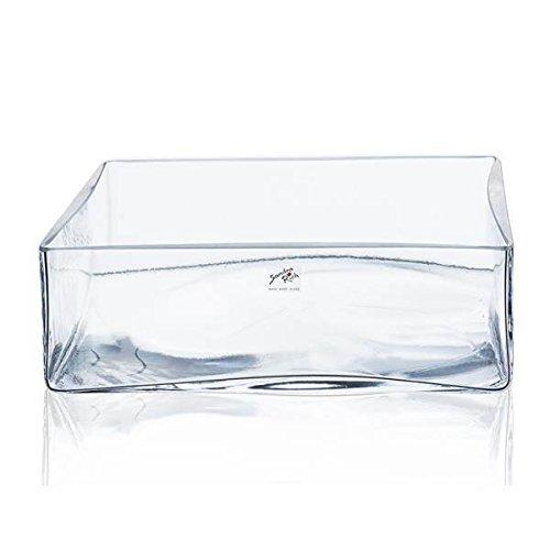 Sandra Rich Bol en verre, verre décoratif Sqaure, hauteur 9 cm, 25 x 25 cm, rectangulaire, transparent