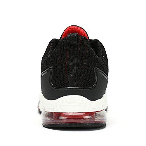 Hommes Sneakers Respirant Sneakers Mesh Chaussures De Course En Plein Air En Cours D'exécution Fitness Sneakers Rouge