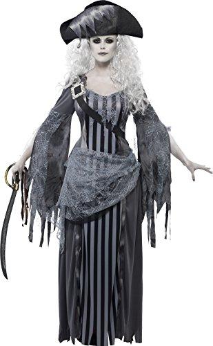 Imagen de smiffy's  disfraz para mujer con diseño pirata fantasma, talla m 22970m  alternativa