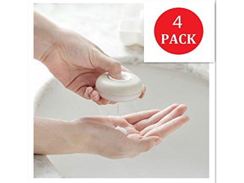 YouPei® Creative Portable Push-Type-Emulsionsdosierbox für Handlotionen, Shampoos, Desinfektionsflüssigkeiten, alle Arten von Lotionen (4 PACK)