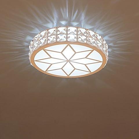 JIAHONG Moderne kreative runde Deckenleuchte, hohe Helligkeit Acryl LED Kristall Balkon Korridor Deckenleuchte ( Color : White light-s )