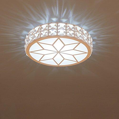 Dreifach-bad-wandleuchte (JIAHONG Moderne kreative runde Deckenleuchte, hohe Helligkeit Acryl LED Kristall Balkon Korridor Deckenleuchte ( Color : White light-s ))