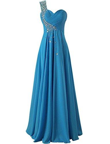 JAEDEN - Robe - Trapèze - Sans Manche - Femme Bleu