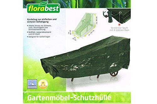 Florabest Gartenmöbel Schutzhülle, Reißfest, wasserabweisend und UV-beständig - für Gartenliege