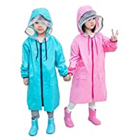 wall-8-CC 80-140 cm Waterproof Raincoat for Children Kids Baby Rain Coat Poncho Boys Girls Primary School Students Rain Poncho Jacket
