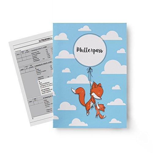 Miolina Mutterpass Hülle Fuchs | passend für Deutschland | inkl. drittem INNENFACH für Gesundheitskarte | Schwangerschafts Geschenkidee | Personalisierung möglich
