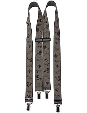 Premium-Hosenträger Jagd - Jagdhosenträger Beige/Braun - mit starken Halteclips