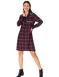 VENCA Vestido de línea evasé Mujer by Vencastyle - 018178