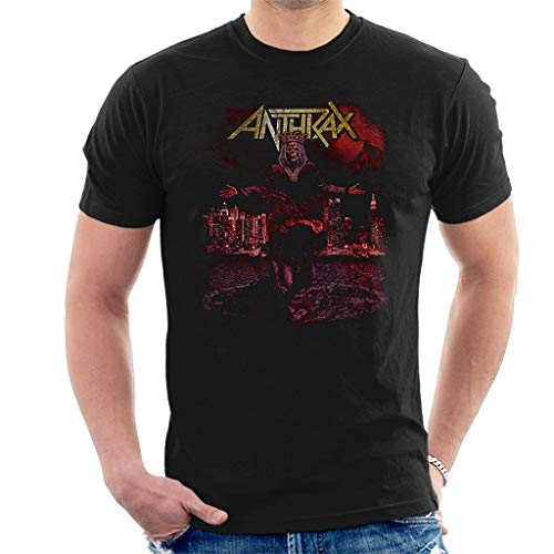 Anthrax Bloody Eagle World Tour 2018 Kurzarm Herren T-Shirt Schwarz Large -