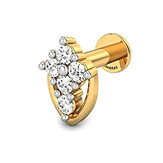 Candere By Kalyan Jewellers Tanushka 18k Yellow Gold and Diamond Nosepin
