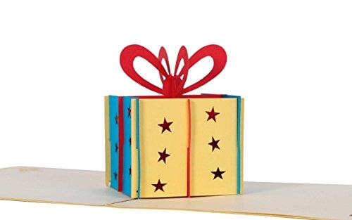 Geldgeschenk Geburtstagskarte I Geld Geschenk als Geschenkbox in Pop-Up-Karte I Geburtstagsgeschenk, Glückwunschkarte, Karte zum Geburtstag, Geschenkkarte
