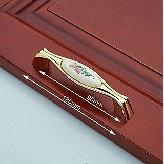 ZTZT 96 mm, 128 mm, Modus Druck aus Keramik, Kommode mit Griffen, Bronze, goldfarben, schwarz, Küchenschränke Schublade, Knopf, Retro, Möbel 5