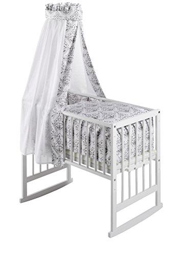 Schardt 09 950 00 02 1/739 Multifunktionswiege Vario weiß lackiert, inklusive textiler Ausstattung Ornaments grey