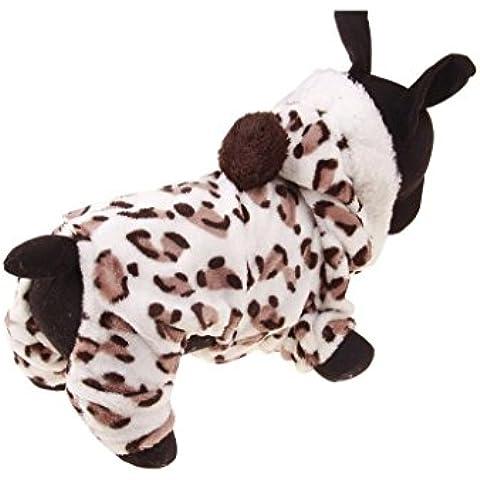 Tongshi Ropa para mascotas ropa perros caliente cachorro mono con capucha capa Doggy
