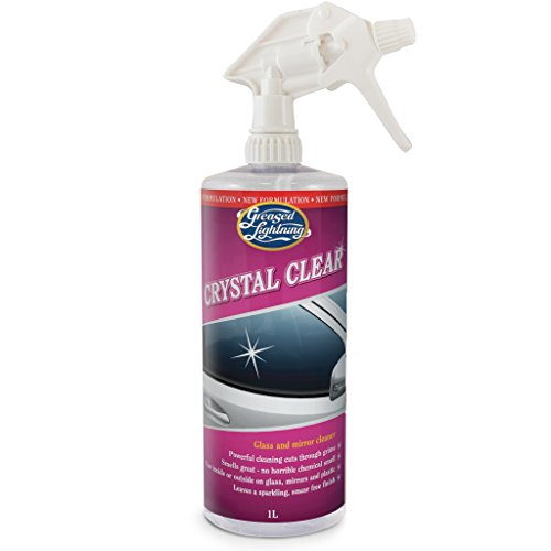 Price comparison product image Greased Lightning Crystal Clear 1Ltr Exterior Glass & Mirror Cleaner & Protector