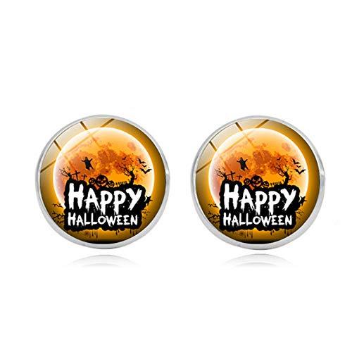 Blisfille Happy Halloween Edelstein Ohrstecker Mode Ohrringe Ohrhaken Ohrstecker Herren Damen Karnevalsfeier