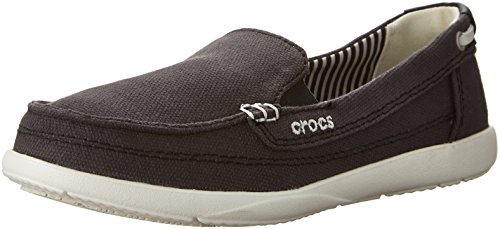 Crocs - - Femmes Walu Mocassins en toile Chaussures Femmes noir