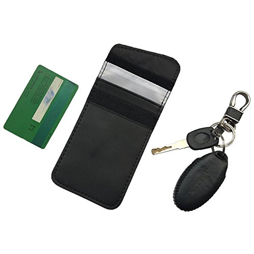 Bulary Multi-Funktions-Doppelschicht-Schlüssel-Tasche Anti-GPS-Auto-Signal-Abschirmung Key Bag Anti-Diebstahl-Anti-Radiation-Abschirmung Key Bag Autoschlüssel Abschirmung Blockierung Cover