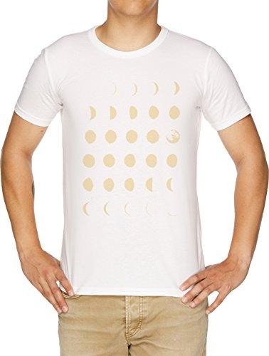 Vendax Mond Phasen Herren T-Shirt Weiß