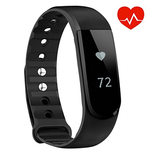 VicTsing Bracelet Connecté Cardiofrequencemetre Montre Connectée Sport Smart Band Bluetooth 4.0 Etanche Tracker d'activité Podomètre pour iPhone 7Plus 7, Samsung, Android Smart Phone