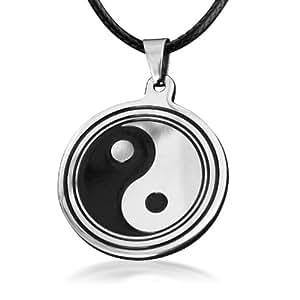 Tai Chi Yin Yang Pendentif Collier Tai Chi Collier de titane acier hommes pour les hommes
