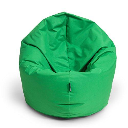 BuBiBag Sitzsack L - XXL 2 in 1 mit Füllung Sitzkissen Topfenform Bodenkissen Kissen Sessel BeanBag (100 cm Durchmesser, apfelgrün)