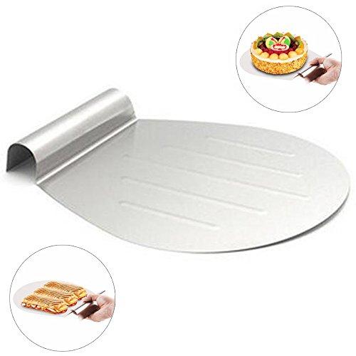 Poussoir mobile de gâteau de plat de plateau de gâteau de transfert de pelle à gâteau d'outils de traitement au four de gâteau d'acier inoxydable par Home Papa