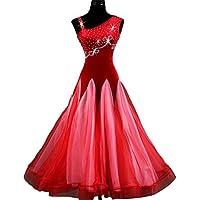 sans Manches Robes de Danse de Salon pour Femme Collier Oblique Performance  Costume de Compétition Haut 1409ac25d29