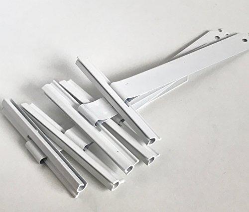 Aufhängefeder Abdruckdämmfeder Stahlfeder für MINI Rolladen Weiß beschichtet Aufhängung Rollo - im 5er Set Bayram® - Metall-lamelle