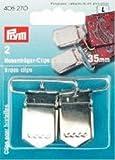 Hosenträgerclips 35 mm Stahl rostgeschützt zum Annähen