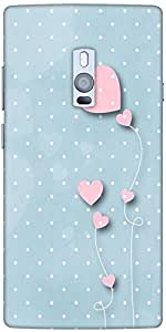 Snoogg Pink balloons blue dots Hard Back Case Cover Shield For Oneplus Two