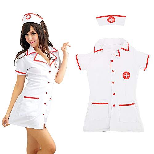 Kostüm Exotische - 3 Stück/Set Erotische Dessous Cosplay Sexy Krankenschwester Uniformen Exotische Kostüme Exotische Kleidung Krankenschwester Kostüme Cosplay