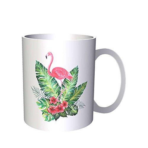 INNOGLEN Flamant Rose dans Les Fleurs 33 cl Tasse mm97