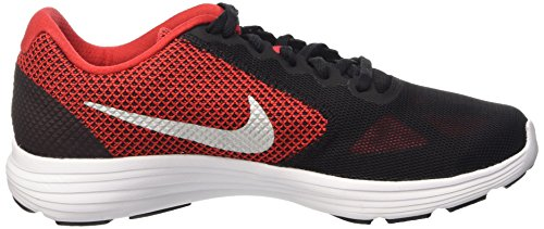 Nike Revolution 3, Running Homme Rouge (University Red/Metallic Silver Black White)