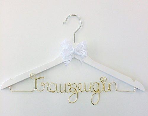 Kleiderbügel Trauzeugin GOLD tolles Geschenk für Ihre Hochzeit - individuell gestaltbar, personalisierbar mit Name