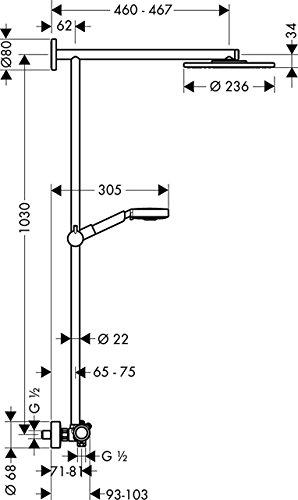 Hansgrohe 27160000 – Columna De Ducha Showerpipe Raindance