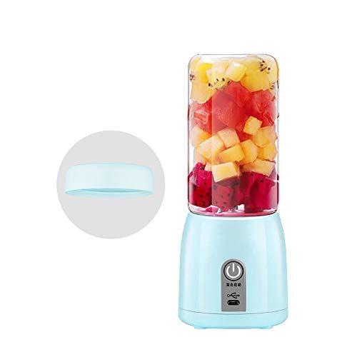 LNTE Licuadora de Batidos, exprimidor portátil de Frutas pequeñas USB, multifunción Mini Vaso de Jugo de Vidrio Adecuado para el hogar, Viajes al Aire Libre, Blender-1