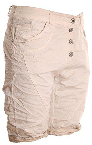 BASIC.de Damen Boyfriend Bermuda-Shorts Sommer Chino-Hose Beige