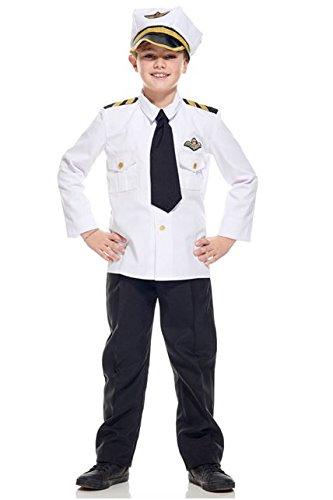 /140Flugzeug Pilot Kostüm Kind, 140cm (Flugzeug Piloten Kostüm Kinder)