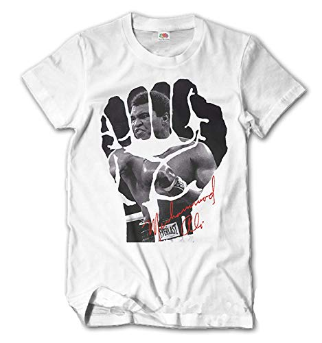 T-Shirt Homme Abdallah Ali Slim Fit Boîtes Sport Maillot Cassius Clay S-XXL - Blanc, M