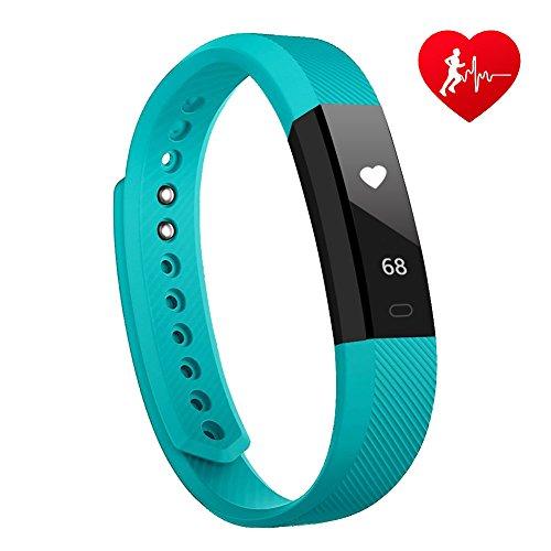 Fitness Tracker mit herzfrequenz Lintelek Fitness Uhr Fitness Armbanduhr Step Tracker Kalorienzähler aktivitätstracker Schrittzähler Uhr SMS Anrufe Grün