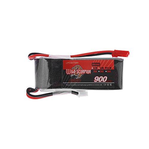Preisvergleich Produktbild Wild Scorpion 11.1V 900mAh 25 C MAX 35 C 3 s JST Stecker Lipo Akku Batterie für RC Auto Flugzeug e Sky big Lama Hubschrauber Teil