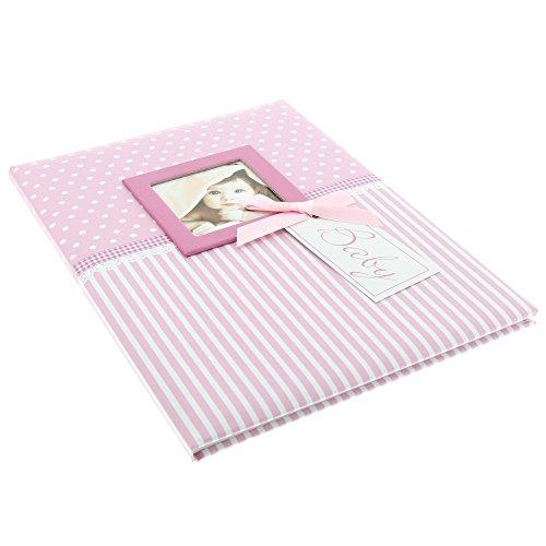 Goldbuch Babytagebuch mit Fensterausschnitt, Sweetheart, 21 x 28 cm, 44 illustrierte Seiten mit Pergamin-Trennblättern, Kunstdruck, Rosa, 11801