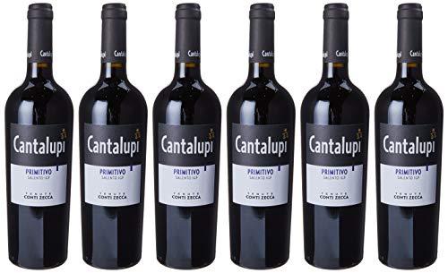 Conti Zecca Cantalupi Primitivo 2017-6 bottliglie da 750 ml