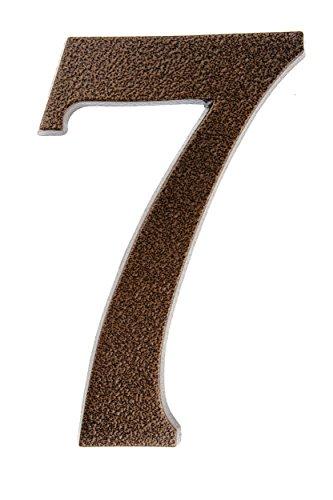 Huber Número de Casa polvo de aluminio 20cm, elegante dreidimensionales Diseño