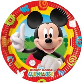 Amscan 23 cm Mickey Mouse 10-clubhouse Pappteller (Mickey Halloween-dekoration)