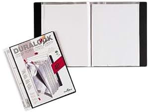 Durable 243401 Sichtbuch Duralook Plus, (für A4, mit 40 Hüllen, Rückenbreite 25mm) schwarz