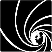 1art1® Agentes Secretos - Al Servicio De Su Majestad con Licencia para Matar Vinilo Decorativo Pegatina Autoadhesivo (9 x 9cm)