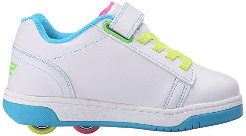 Heelys Dual Up 770585, Sneakers basses mixte adulte Multicolore - multi (Solid White/Neon Multi)