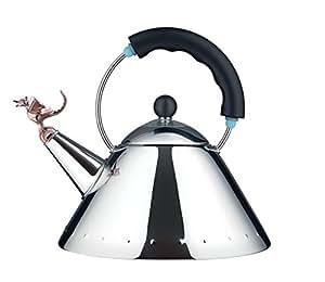 Alessi 9093REX B Tea Rex Bollitore in PA e Acciaio Inossidabile 18/10, Nero